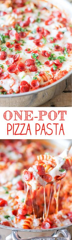 One-Pot Pizza Pasta - easy one-pot dinner idea!