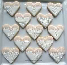 It's a Nice Day for a White Wedding Dress: Heart-Shaped Wedding Dress and Tuxedo Cookies | Taylor-Made Treats
