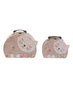 Floral Friends Jessie the Cat Suitcase Set #zulily #zulilyfinds