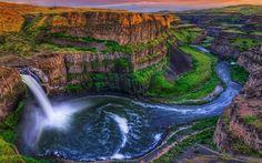 Las Cataratas del Palouse en Washington, USA...Impresionante!!