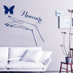 Beauty Salon Wall Decal Girl Vinyl Stickers Beauty Salon Decor Girl Hand Manicure Art Murals Interior Design Living Room Decor Black Friday Sale