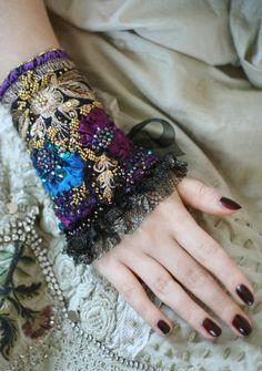 Radharomantic oriental inspired wrist wrap from от FleursBoheme