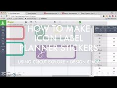 How To Create Icon Label Stickers in Design Space with Cricut Explore - YouTube