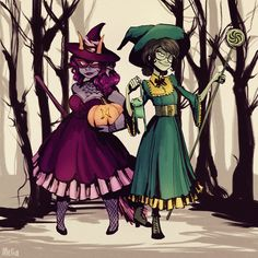 Illustration homestuck Jade Harley Halloween feferi peixes paperpie •