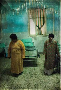 metanoia (2009) Patients are photographed in an austere, decaying mental hospital. #photographer Nermine Hammam