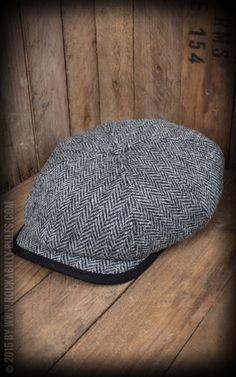 Herren Cap - George Harris Tweed, schwarz