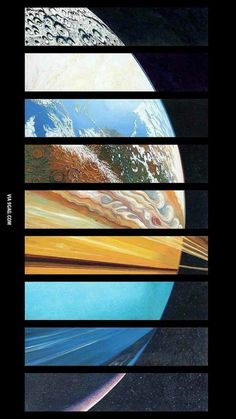 Combination of all the planets... If I cld find glass patterns that resemble each one this wld be an awesome window!