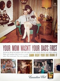 I kind of really love this ad! The coolness or trendiness of using vintage photos isn't over for me!
