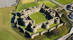 Beaumaris Castle, Wales.  Never finished, it was built during Edward I's conquest of Wales.