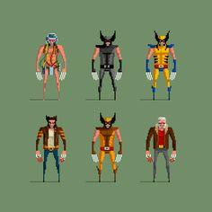Game artist, illustrator and animator. You may know me for my pixel art. Comic Character, Character Design, Pixel Games, Perler Bead Art, Marvel X, Video Game Art, Wolverine, Pixel Art, Geek Stuff