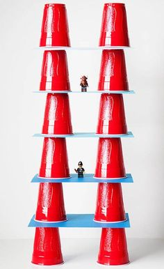 The simplest ideas are usually the best. Challenge your little builders to design the tallest tower they can using only plastic party cups and card stock. Get the tutorial at allfortheboys.com.
