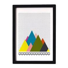 "Affiche ""Montagnes 1"" Oelwein  19.00 minimall"