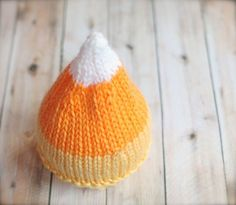 Candy Corn Beanie  newborn photo prop by clickknits on Etsy, $24.00