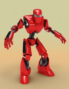 Menacing red robot - NO LONGER AVAILABLE 3d Model Character, Character Design, Character Concept, Robot Technology, Technology Gadgets, Big Hero 6, Robot Parts, Robots Characters, Cardboard Sculpture