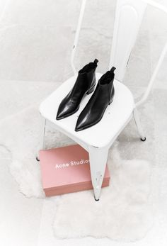 The dreamiest black Acne booties.