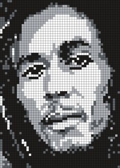 Bob_Marley_(Square) by Maninthebook on Kandi Patterns
