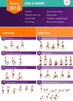 week 6&8 legs and cardio