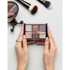 NYX Professional Makeup Cosmic Metals Shadow Palette (37 ILS) ❤ liked on Polyvore featuring beauty products, makeup, eye makeup, eyeshadow, multi, nyx eye shadow, nyx eyeshadow, palette eyeshadow and nyx