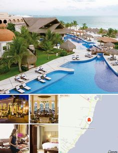 This hotel lies in beautiful, natural surroundings on the beach of Puerto Morelos on the Maya Riviera and is only 20 minutes away from Playa del Carmen. The town centre of Puerto Morelos and archaeological dig sites are within a 15 minute walk, Cancún is 30 km away. Cancún international airport lies just 25 km from the hotel.
