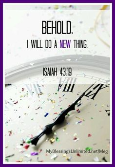 Isaiah 43 19 Happy New Year