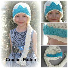 ELSA Hat Pattern Crochet Pattern Instant Download by bummybaby