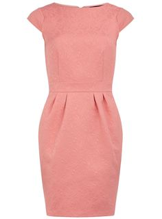 Coral embossed lantern dress - Sitting Pretty - What's New - Dorothy Perkins