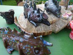 Camäleon aus Ton/Keramik Wunderschöne Gartendeko.