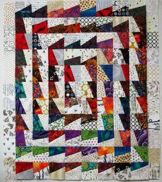 Exuberant Color: Fractured quilt