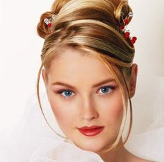 FRONTAL bridesmaid HAIR   Styling Your Bridal Hair with Prom Wedding Half Updo - Wedding Updo ...