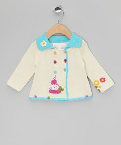 Look at this Powell Craft Cream Birdcage Jacket - Infant on #zulily today!
