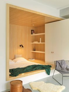 MDDM Studio uses yellow to energise interiors of Beijings House P Kids Room Design Beijings energise House Interiors MDDM Studio Yellow Built In Furniture, White Furniture, Small Apartments, Small Spaces, Interior Architecture, Interior Design, Interior Colors, Interior Ideas, Interior Inspiration