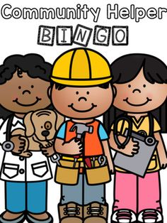 """This is an engaging bingo game to help your students learn about the job of community helpers! Here's how it works: Read a clue card aloud. Students then cover the community helper that corresponds with the given clue if it is on their card. The first student to cover their cards yells, """"BINGO"""" an... Community Helpers, Bingo Games, Matching Games, Student Learning, Teacher Newsletter, Teacher Pay Teachers, Pet Care, Social Studies, Save Yourself"""