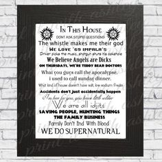 In this house we do Supernatural supernatural by PrintitWithAshley