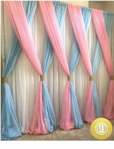 This Would Be Super Cute As A Backdrop For A Unicorn Birthday Party Orrr For Every Day Use In A Unicorn Themed Girls Room (diy party decorations for girls) Fiesta Shower, Shower Party, Shower Games, Baby Shower Gender Reveal, Baby Shower Themes, Shower Ideas, Baby Shower Twins, Baby Twins, Baby Shower Backdrop