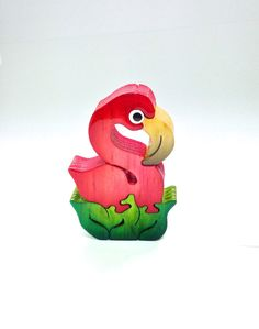 Your place to buy and sell all things handmade Wooden Art, Wooden Decor, Wooden Puzzles, Wooden Boxes, Flamingo Craft, Wood Toys Plans, Wood Animal, Scroll Saw, Diy Toys