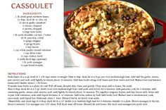 Cassoulet is a speciality in South West part of France.