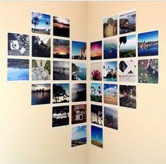 Simple, easy, orderly photo display to brighten up your dorm room! 21 Dorm Room DIY Projects to Customize Your Space