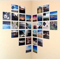 Ein Herz aus Bildern....♡ Ganz einfach und wunderschön. Einfach die Bilder als Herz aufkleben und schon fertig♡