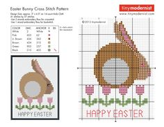 Free Easter Cross Stitch Pattern  http://tinymodernist.wordpress.com/2013/03/20/free-easter-cross-stitch-pattern/