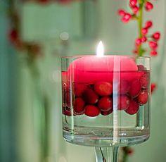 Bagas vermelhas & velas