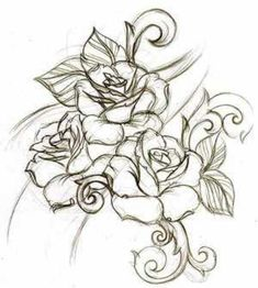 rose tattoos - yes maybe something like this...