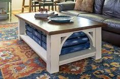 Learn how to build a DIY coffee table? Check our 50 free DIY coffee table plans to build a coffee table for your living room, farmhouse, indoor & outdoor. Diy Coffee Table Plans, Simple Coffee Table, Coffee Table With Storage, Easy Coffee, Coffee Tables, Rustic Desk, Rustic Shelves, Rustic Furniture, Diy Furniture