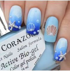 Seashell nails