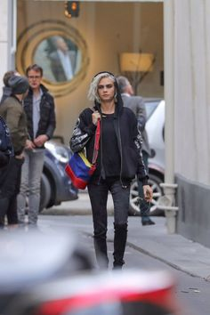 March 22nd: Cara leaving the Chanel's photoshoot in Paris, France