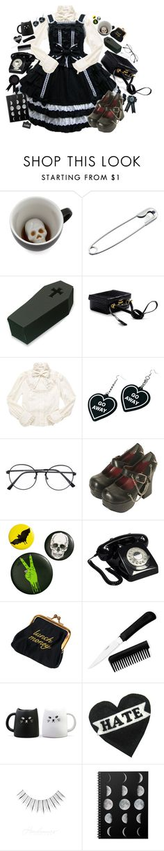 """Scare me!"" by bandaidkid ❤ liked on Polyvore featuring Mark Cross, Witch Worldwide, H&M and GPO"