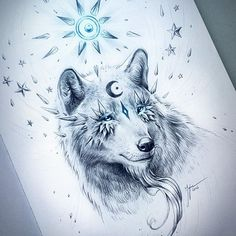 """""""Black Moon"""" - #SoulsOfNatureSeries 🐺 A wolf! Probably the most requested animal.. :D It was a joy to draw!! :D The original drawing of this one and most of the rest of the series (some are sold already) are available through my shop! (Link in my bio) ❤️ Love you people! #art #arte #draw #drawing #sketch #sketchbook #wolf #wolves #moon #sun #star #stars #surreal #surrealart #fantasy #fantasyart #sketching #art_helps #art_realisme #art_empire #art_spotlight #worldofartists #artofdrawingg…"""