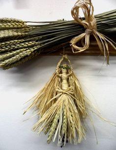Corn Dolly. Beltane Corn Maiden. Pagan Wiccan Wheat Goddess. Handmade