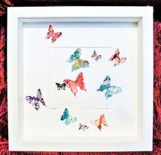 Butterflies painting handmade paper butterfly art handmade