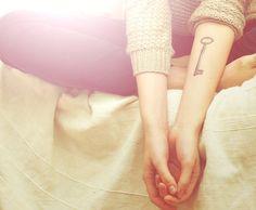 key tattoo, on forearm! LOVE