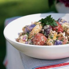 Red, White, and Blue Potato Salad from MyRecipes.com #4thofJuly